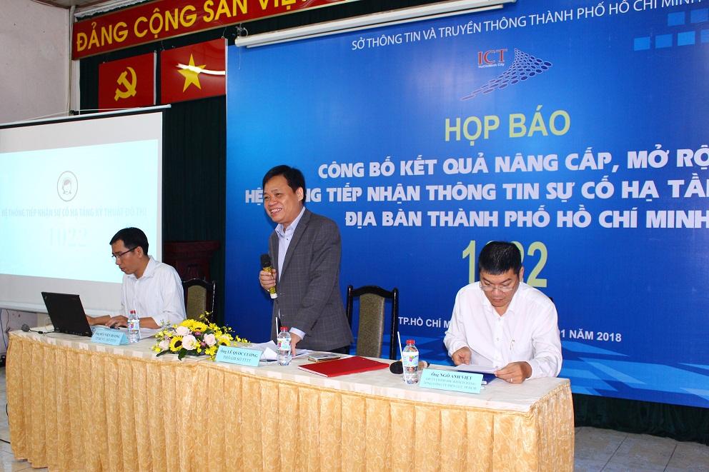 Nâng cấp, mở rộng tiếp nhận thông tin sự cố hạ tầng kỹ thuật địa bàn thành phố Hồ Chí Minh (hệ thống 1022)