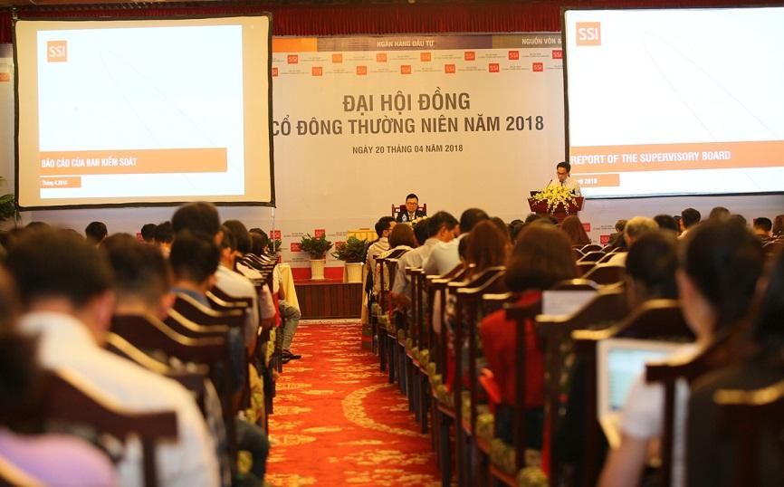 Công ty cổ phần chứng khoán Sài Gòn (SSI) tổ chức đại hội cổ đông thường niên 2018