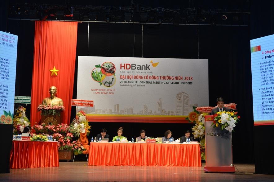 Đại hội đồng cổ đông  thường niên HDBank, trình phương án sát nhập PGBank
