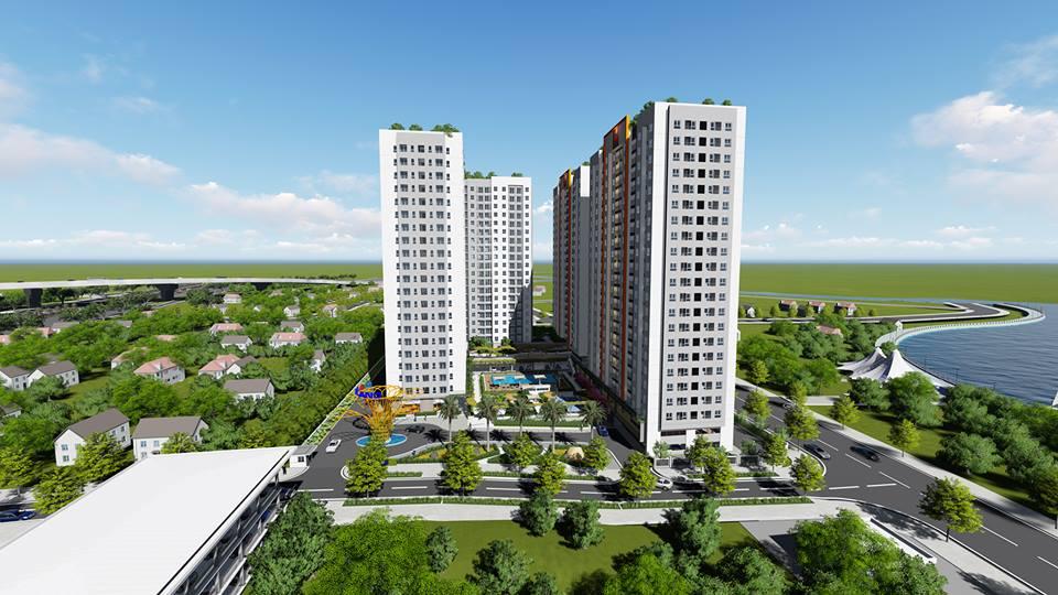 Block B dự án Samsora Riverside được thi công bởi Tập đoàn Socon