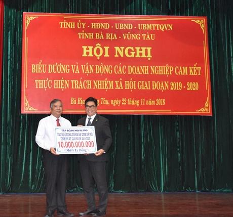 Tập đoàn Novaland đã đóng góp 10 tỷ đồng cho chương trình an sinh xã hội tỉnh Bà Rịa – Vũng Tàu (BR-VT)