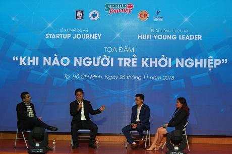"""Tọa đàm """"Khi người trẻ khởi nghiệp"""" đồng thời phát động cuộc thi """"Hufi Young Leader""""; Kick off dự án """"Startup Journey"""""""