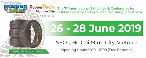 Chuỗi triển lãm Rubber & Tyre Vietnam 2019 – RubberTech Vietnam 2019 – PlasTech Vietnam 2019  dự kiến sẽ đón trên 90 doanh nghiệp tham gia