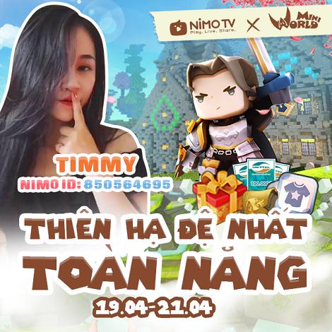 Nimo TV kết hợp với Mini World ra mắt game mô phỏng cực hot: Block Art