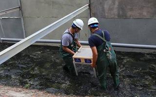 Quây rào sắt, xử lý bùn sông Tô Lịch thành khí CO2 và nước bằng công nghệ Nhật Bản