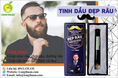 Tinh dầu hoa bưởi – Bộ chăm sóc râu và lông mày, mi hiệu quả an toàn đến từ DNTN Long Thuận.