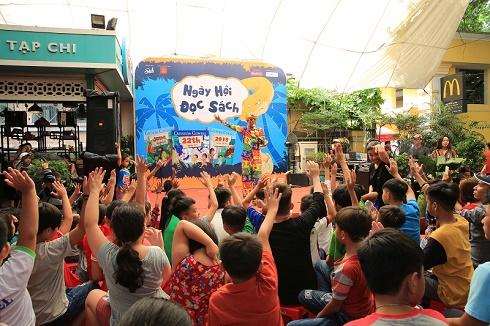 """Sân chơi ý nghĩa tại """"Ngày hội đọc sách 2019"""" cho các em thiếu nhi có hoàn cảnh khó khăn"""