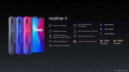 Realme 3i ra mắt: màn hình giọt nước, pin 4.230mAh, giá từ 116 USD