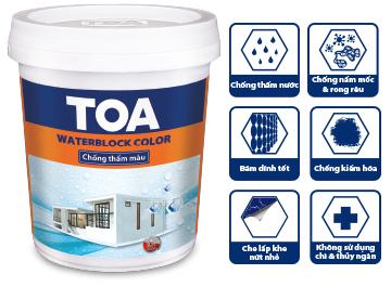 Cùng Toa Waterblock Color  - Chống thấm ngay, màu mê say