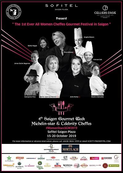 """Các Nữ Siêu Đầu Bếp hội tụ tại """"Saigon Gourmet Week"""" lần thứ tư được tổ chức lần đầu tiên tại Sofitel Saigon Plaza"""