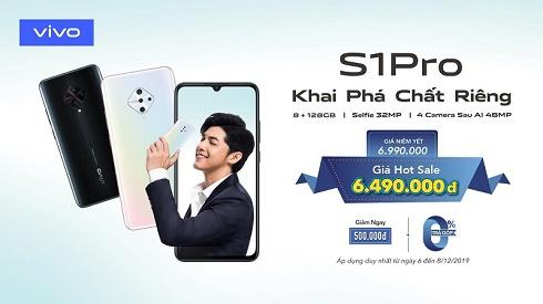 Vivo S1 Pro: Đỉnh cao selfie 32MP, 4 camera sau AI 48MP, giá dưới 7 triệu đồng