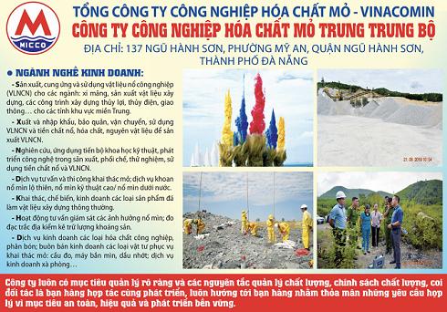 Công ty công nghiệp Hoá chất mỏ Trung Trung Bộ: Đơn vị hàng đầu miền Trung Tây Nguyên