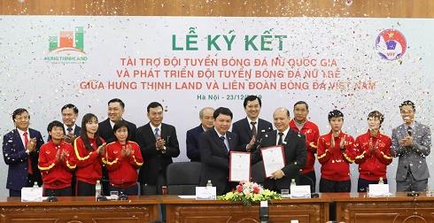 Hưng Thịnh Land tài trợ 100 tỷ đồng cho Đội tuyển bóng đá nữ Quốc gia, mục tiêu hướng tới World Cup