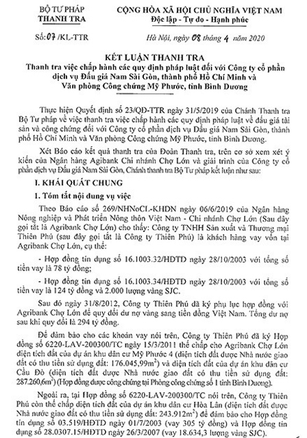"""Công ty Thuận Lợi """"chây ì"""" việc nộp tiền đặt trước để mua tài sản"""