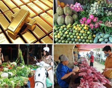 Tiêu dùng trong tuần: Giá vàng, trái cây tăng mạnh; trong khi thực phẩm rớt giá