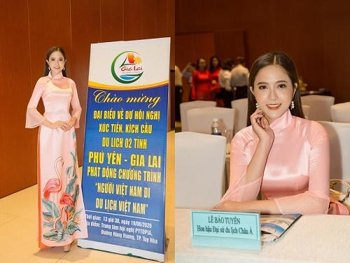 """Hoa hậu Lê Bảo Tuyền đồng hành cùng chương trình """"Người Việt Nam đi du lịch Việt Nam"""""""