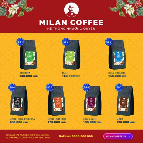 Milan Coffee chính thức giới thiệu ra thị trường 7 loại cafe