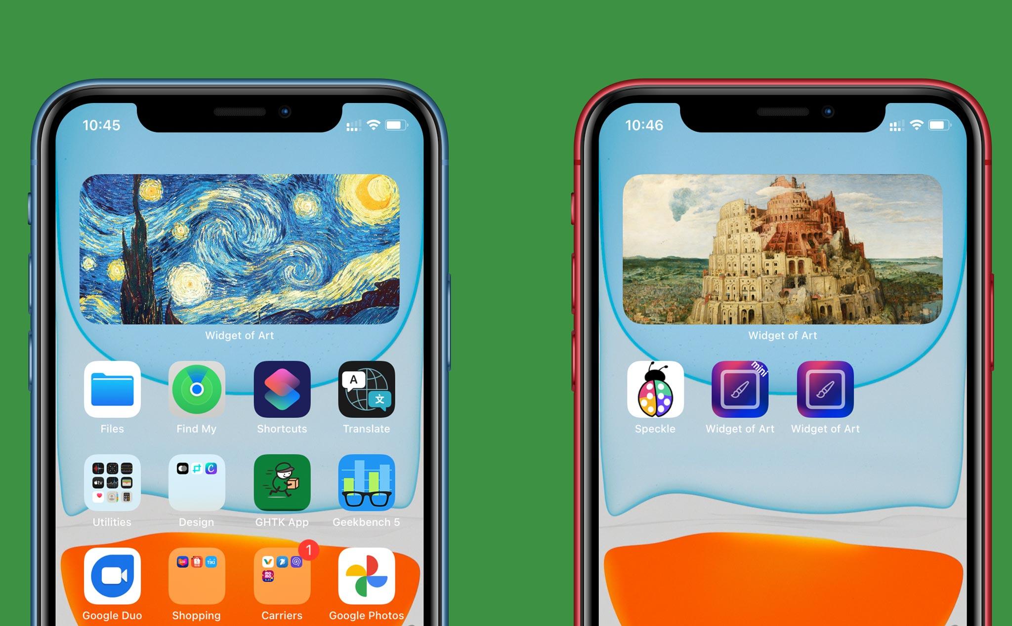 Mang tranh nghệ thuật lên màn hình iPhone trên iOS 14