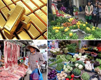Tiêu dùng trong tuần: Giá vàng, trái cây đồng loạt tăng mạnh