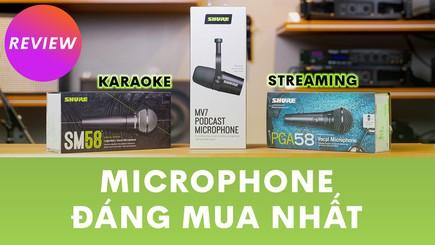 Bộ ba microphone đáng mua nhất của Shure dành cho karaoke và streamer