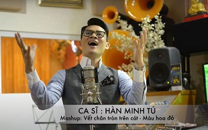 Ca sĩ Hàn Minh Tú ra mắt MV ''Vết chân tròn trên cát - Màu hoa đỏ''